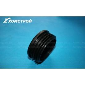 Заглушка черная круглая внутренняя 60 мм