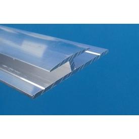 З'єднувальний профіль Н-подібний алюмінієвий для АКП грибок без покриття