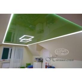 Натяжна стеля глянцева 0,17 мм зелена