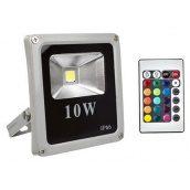 Светодиодный прожектор матричный Slim COB 10W RGB + пульт управления