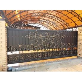 Ковані ворота Код В-0161 ДЕШЕВА КОВКА
