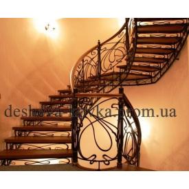 Лестница с коваными элементами Код С-0108 дешевый КОВКА