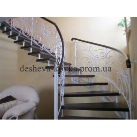 Ковані гвинтові сходи Код: Д-0106