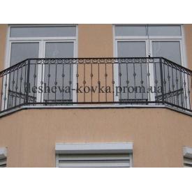 Балкони з елементами ковки Код: Ж-0105