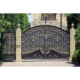 Ворота ковані з хвірткою