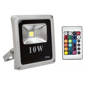 Світлодіодний прожектор матричний Slim COB 10W RGB + пульт управління