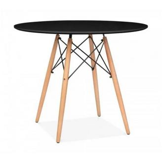 Круглий стіл Тауер Вуд SDM 740х800 мм чорний