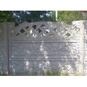 Плита забора с фигурными элементами железобетонная 2 м серая