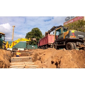 Проведення земляних робіт при будівництві доріг