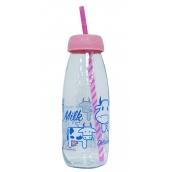 Пляшка для молока Sarina з трубочкою 500 мл (S-765-1)