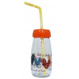Бутылка для сока и воды Sarina с трубочкой 250 мл (S-770-3)