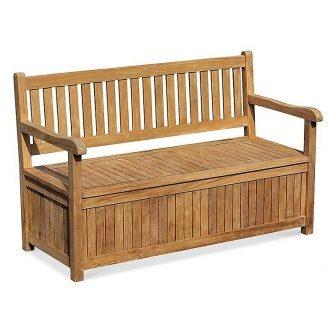 Лавочка - сундук со спинкой 1500 х 550 мм со встроенным ящиком для хранения Garden park bench 19