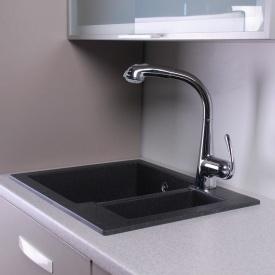 Прямоугольная гранитная кухонная мойка Fancy Marble Arizona 105067004 светло-черный