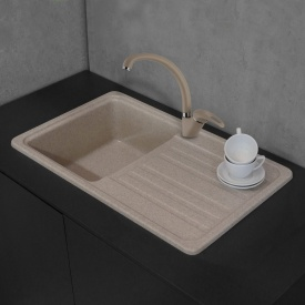 Кухонная мойка Fancy Marble Versal 109070007 песочный