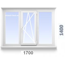 Окно 1700x1400 мм из 3-хкамерного профиля TRIO WDS с однокамерным стеклопакетом