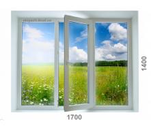 Вікно з 6-камерного профілю WDS Ultra6 1700x1400 мм з однокамерним склопакетом з одного енергією