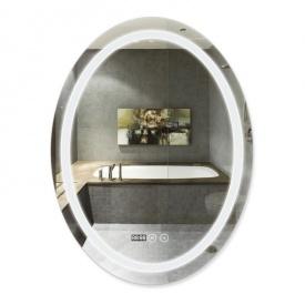 Зеркало с подсветкой и антизапотеванием Q-tap Mideya LED DC-F801 600х800