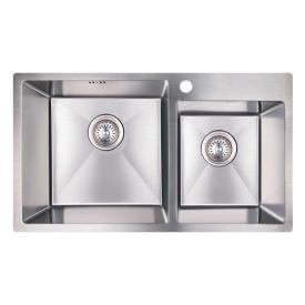 Кухонная мойка двойная Imperial S7843 Handmade 3.0/1.2 mm (IMPS7843H12)