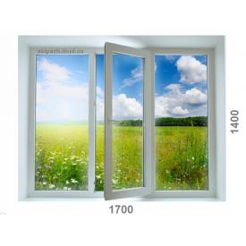 Вікно з 7-камерного профілю WDS Ultra7 1700x1400 мм з двокамерним склопакетом