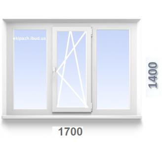 Вікно з 3-камерного профилю WDS Classic 1700x1400 мм з однокамерним склопакетом