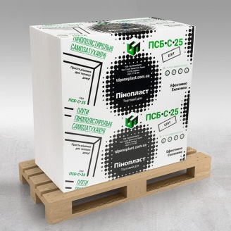 Пінопласт для утеплення будинку ПСБ-С-25 Еліт 50мм 12-13кг/м3