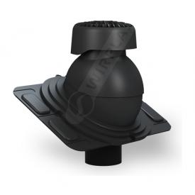 Фановый выход Wirplast Uniwersal K86 110х265 мм черный RAL 9005