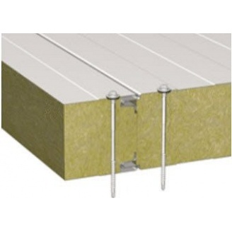 Стінова сендвіч-панель Стілма 60 мм з наповнювачем мінеральна вата