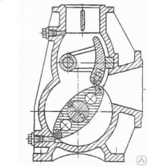 Насос роторный РН30 без редуктора на раме 7,5 кВт