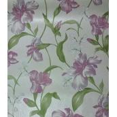 Паперові шпалери Шарм прості 134-60 Джулія рожеві квіти 0,53х10,05м
