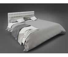 Двуспальная кровать Глория Tenero 1400х1900 мм металлическая с мягким изголовьем