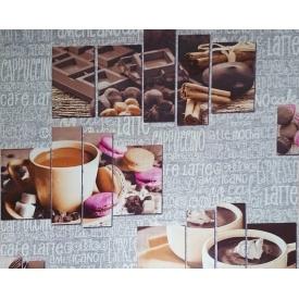 Паперові шпалери що миються Шарм 130-04 Шоколад сіро-фіолетовий 0,53х10,05м