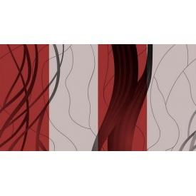 Паперові шпалери Шарм 140-05 мийка Стрім Декор червоно-сірі 0,53х10,05м