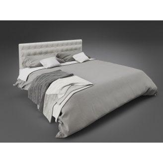 Двоспальне ліжко Глорія Tenero 1400х1900 мм металева з м'яким узголів'ям