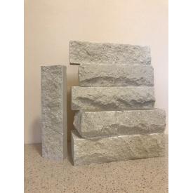 Половинка кирпича/Скала/Ложково-тычковый/Белый 230x50x65 мм