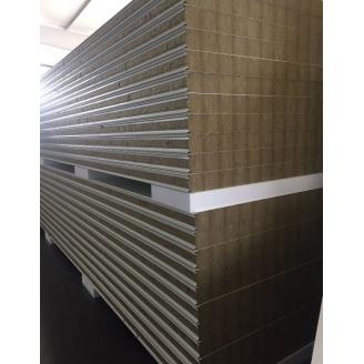 Стеновая сэндвич-панель Стилма 80 мм с наполнителем минеральная вата