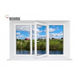 Трехстворчатое окно Rehau Ecosol 70