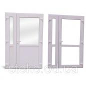 Пластикові вхідні двері Roto/Steko 1500x2050 з доводчиком Geze 1500