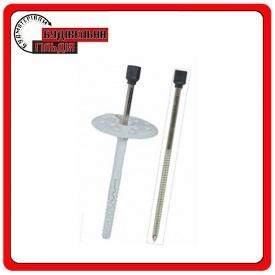 Дюбель с удлиненной распорной базой cо стальным оцинкованным гвоздем с термоголовкой Wkret-met 10x160