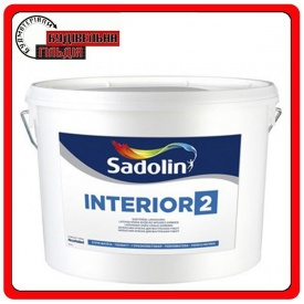 Глубокоматовая латексная краска INTERIOR-2 Sadolin белая 10л