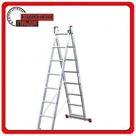 Двухэлементная выдвижная лестница Krause Corda 2x7 ступеней