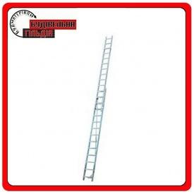 Двухэлементная выдвижная лестница Krause Corda с тросом 2x14