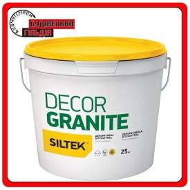 Штукатурка декоративная Siltek Decor Granite гранит натуральный 25 кг серый