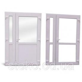 Пластиковые входные двери Roto/Steko 1500x2050 с доводчиком Geze 1500
