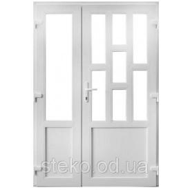 Двух-створчатые Пластиковые входные двери Steko 1400x2050