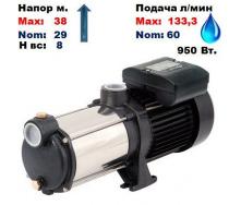 Насос центробежный многоступенчатый MRS-H3 Sprut 38/29 м 60-133,3 л/мин 220 В 950 Вт