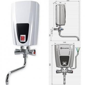 Проточный водонагреватель ELDOM Смеситель 6500 Вт