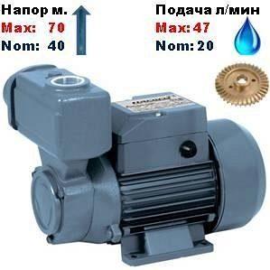 Насос вихревой самовсасывающий TPS-70Насосы+ 40/70 м 20-47 л/мин
