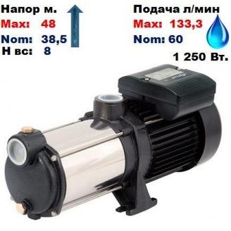 Насос центробежный многоступенчатый MRS-H4 Sprut 48/38,5 м 60-133,3 л/мин 220 В 1250 Вт