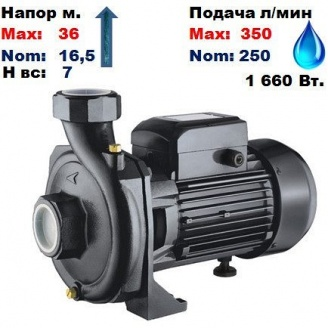 Насос центробежный HPF350 Sprut 36/16,5 м 250-350 л/мин 220 В 1660 Вт