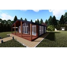 Каркасний будинок для відпочинку та проживання СКАНДІ ІІІ 67м2